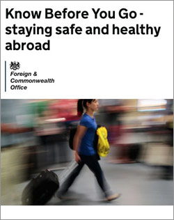 Staying safe and healthy Abroad leaflet